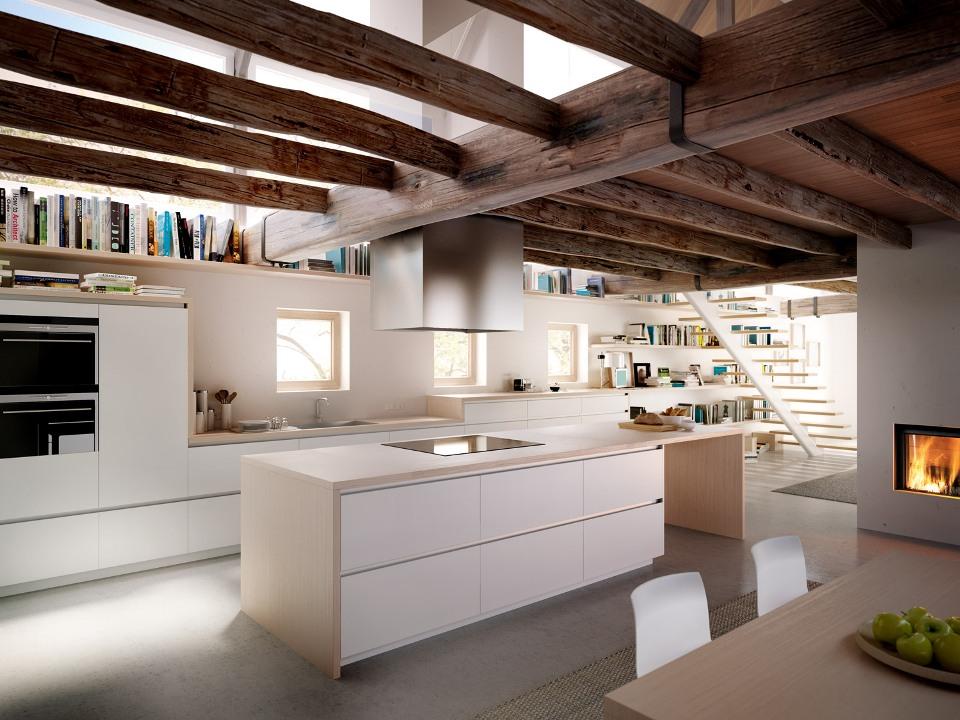 Muebles de cocina cocinas de dise o aram interiors for Muebles de cocina americana modernos