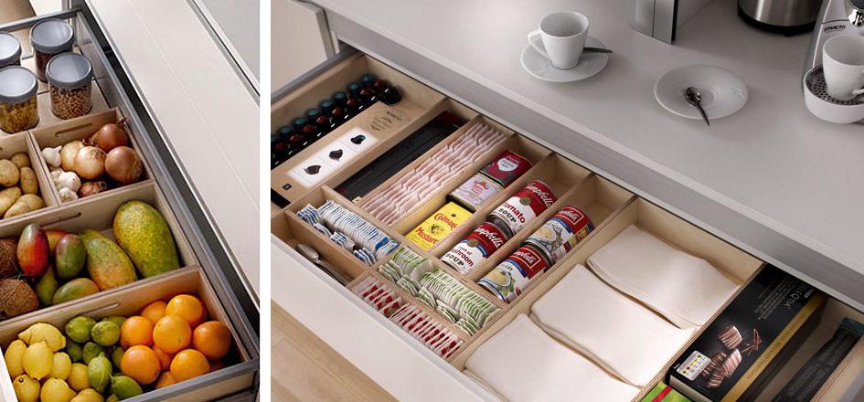 Muebles de cocina xey cocinas de dise o aram interiors for Accesorios interior cajones cocina