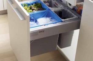 Armario cubos de basura puerta extraible