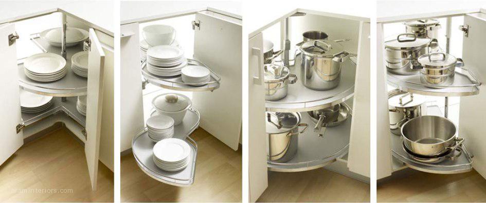 Los pr cticos accesorios interiores para muebles de cocina - Armario esquinero cocina ...