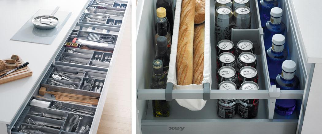 Los pr cticos accesorios interiores para muebles de cocina aram interiors - Interiores de cajones de cocina ...