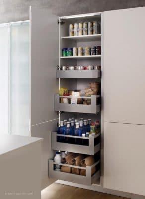 Mueble columna con gavetas extraibles