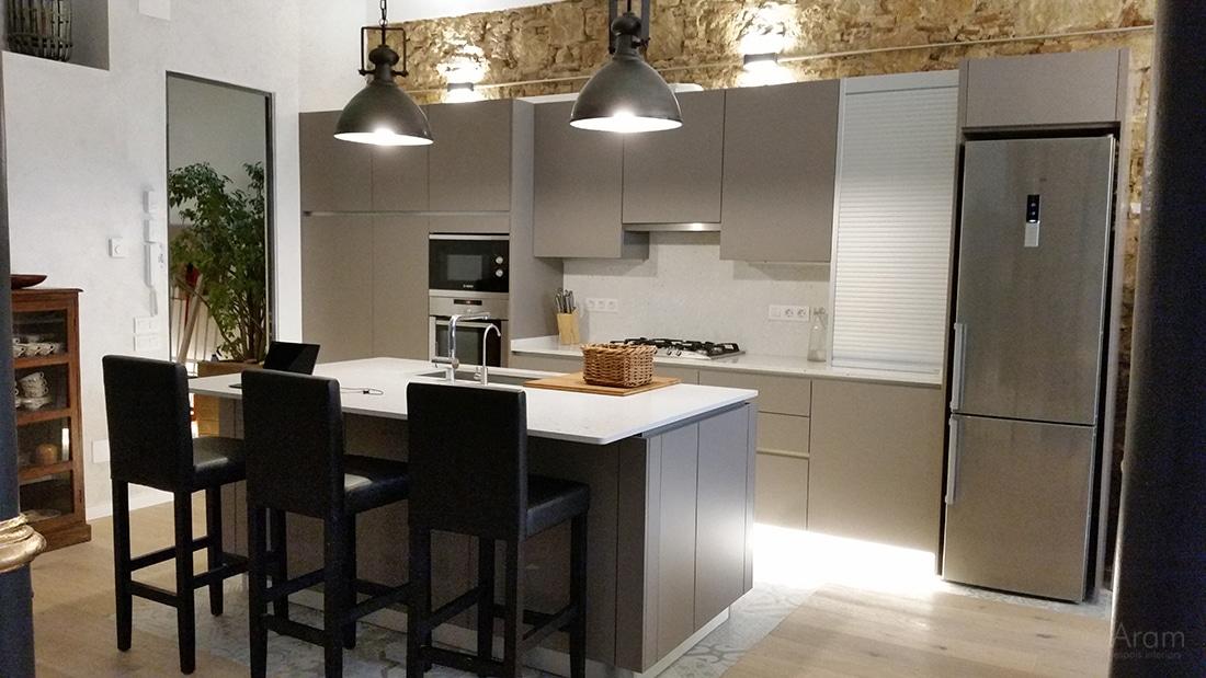 Vista principal cocina en Gracia