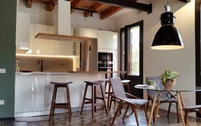 Reforma cuina oberta Gracia -Vista principal