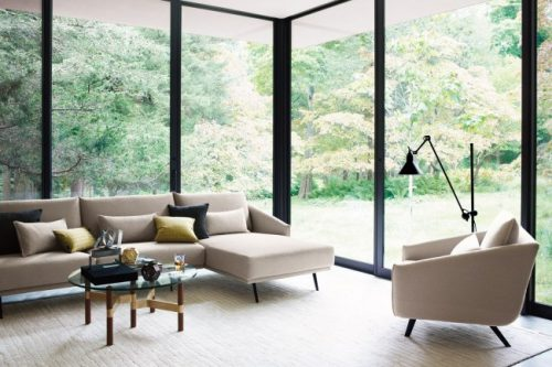 Conjunto Stua Costura sofa y sillon grises
