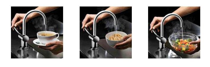Grifo agua caliente a 98º o fria