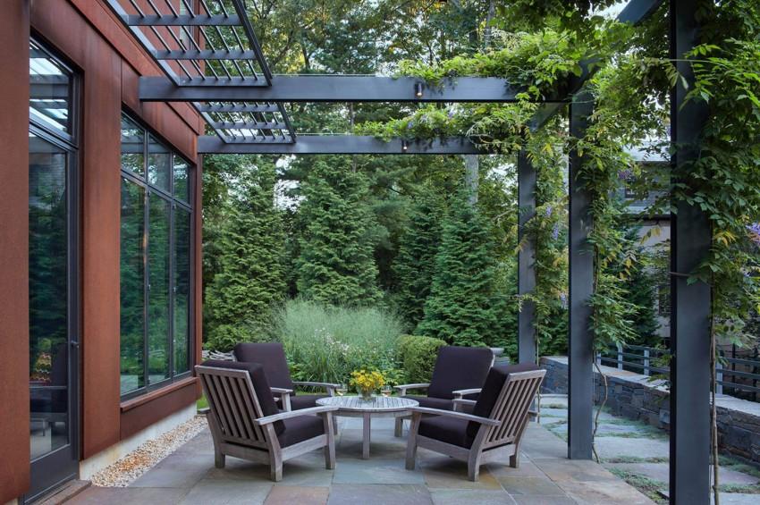 Terraza jardin de la casa