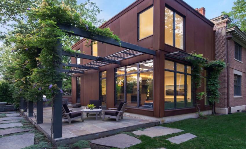 Vista exterior interiorismo casa tonos claros