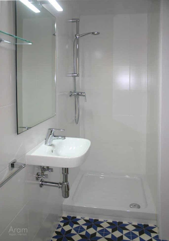 Vista bany, zona dutxa